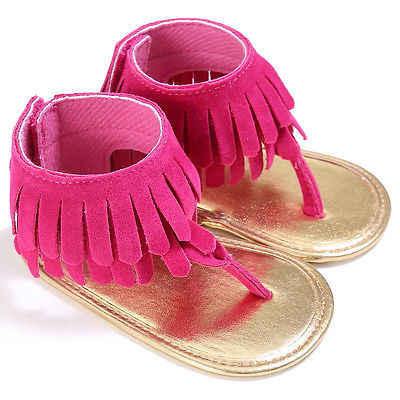 Sommer 2017 Baby Sandalen Neue Baby Quasten Sommer Weiche Sohle Prewalkers Kühlen Sandalen Schuhe 5 Farben