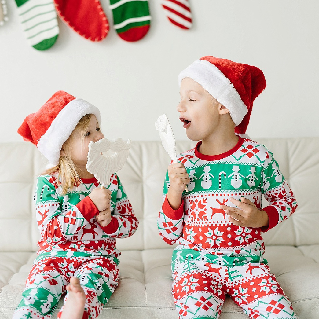 Best Family Christmas Pajamas.Us 5 56 17 Off Hot Fashion Family Matching Christmas Pajamas Set Cute Unisex Kid Sister Brother Sleepwear Nightwear Baby Clothes Best Costume In
