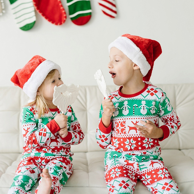 b595262835 Hot Fashion Family Matching Christmas Pajamas Set Cute Unisex Kid Sister  Brother Sleepwear Nightwear Baby Clothes Best Costume