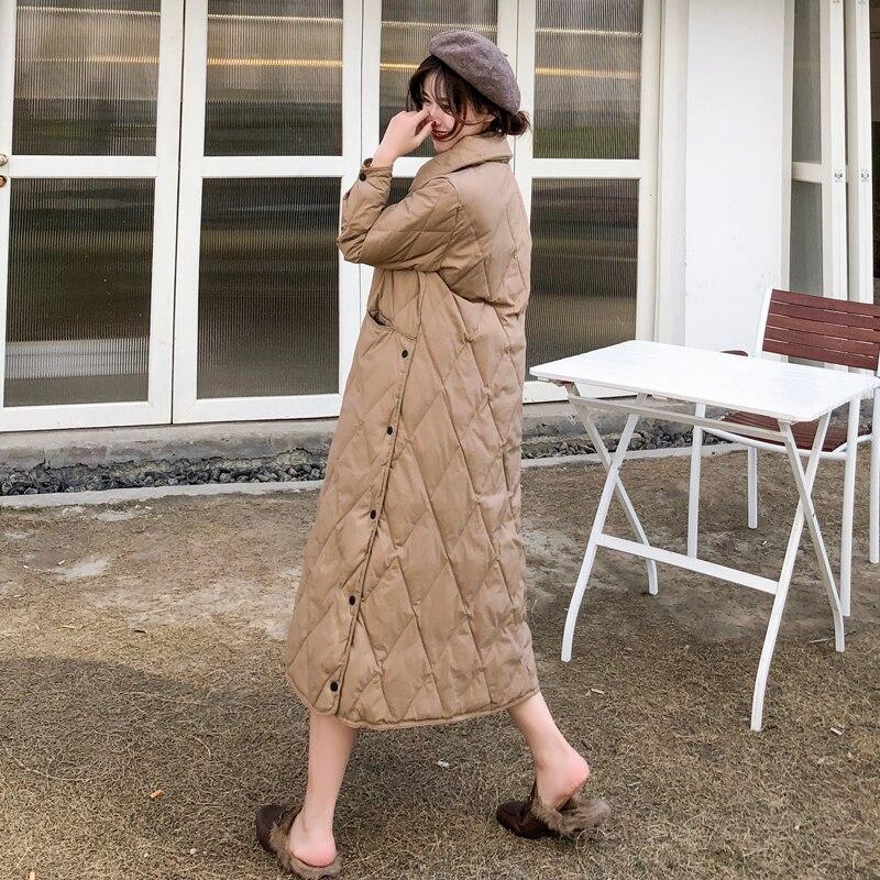 Winter Light Ultra 90% White Duck   Down     Coats   Women Fashion Split Design   Down   Jacket 2019 New Arrival Women's Long   Down   Jacket