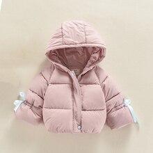 JN678 Children's Autumn Winter Jacket 0-4T Baby Girls Cute Style Long Sleeve Winter Jacket K Coat  Warm Outerwear 0-4 Years