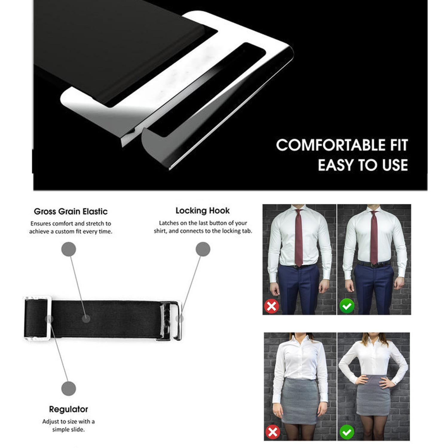 Women Men Near Shirt-Stay Best Holders Shirt Suspenders Adjustable Stays Tuck  Belt Shirt Tucked Shirt Holder Men Stay Belt
