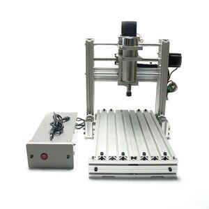 Image 3 - 3 4 5 axis aluminium mini cnc router machine voor hout reliëf embossment pcb pvc DIY frezen boren graveren bal schroef USB