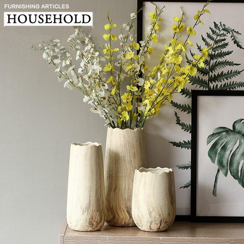 Европа Стиль Керамика Маленькая ваза современный минималистский Стиль Desktop Керамика ваза Office для дома декоративный цветок Настольная Ваза