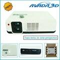 "Alta qualidade 2650 Lumens Full HD 3D LED projetor Linear polarizada lente dupla casa IMAX projetor 3d, Max suporte 200 "" tela"
