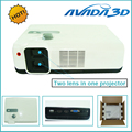 """High Quality 2650 Lumens Full HD 3D LED Projector Linear Polarized Dual Lens Home IMAX Proyector 3D, Max support 200"""" screen"""