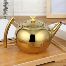 Thicker 304 Stainless Steel Water Kettle Hotel Tea Pot With Filter Hotel Coffee Pot Restaurant Induction Cooker Tea Kettle midea electric kettle 304 stainless steel pot kettle 220v mk hj1705