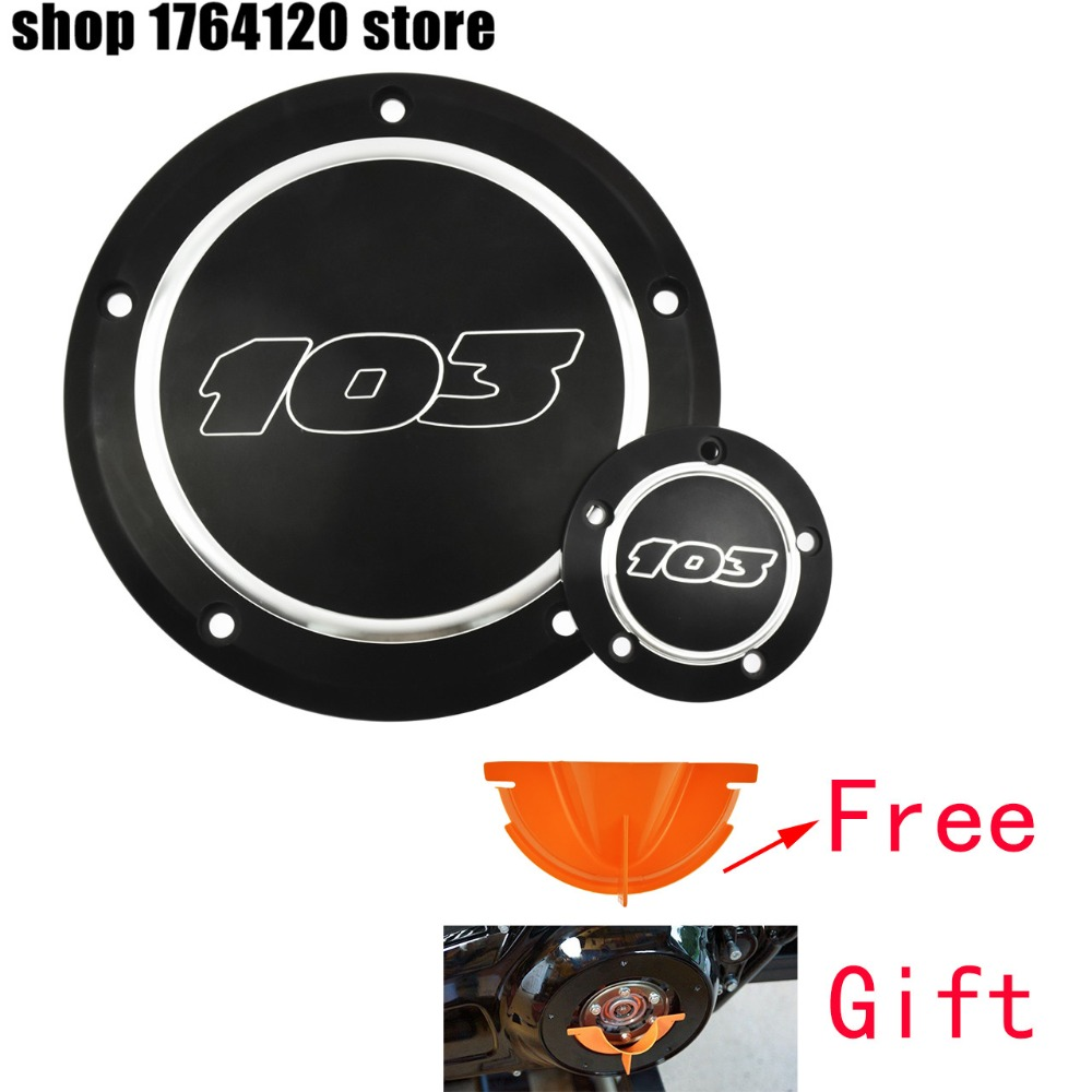 103 Derby Cover Timer Timing Cover For Harley Touring 1999 2015 Dyna 1999 2017 FLSTF Fat