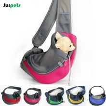 Leisure Pet Dog Carrier Shoulder Bag Breathable Mesh Front Chest Tote Bag Outdoor Travel Backpack Portable Dog Crossbody Bag