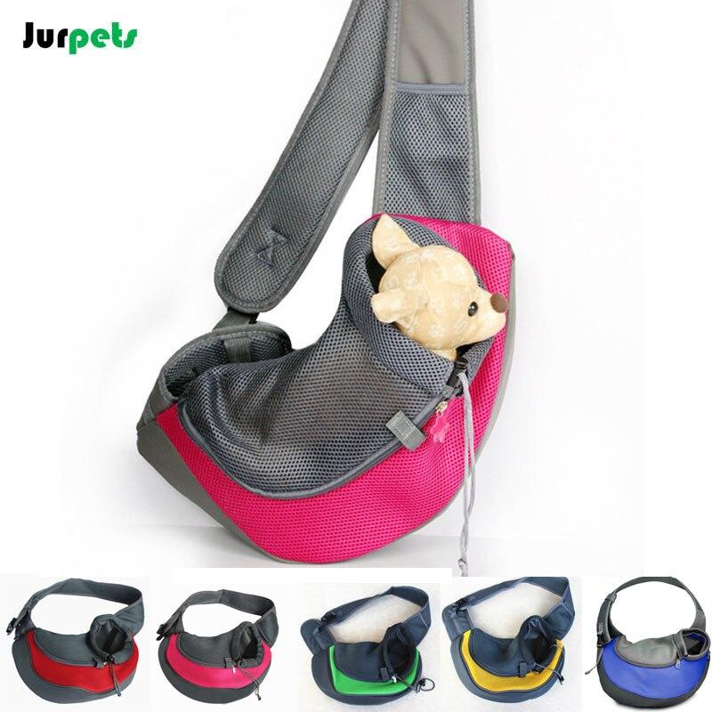 Leisure Pet Dog Carrier Shoulder Bag Cat Breathable Front Bag Outdoor Travel Backpack Portable Crossbody Bag Small Dog Slings