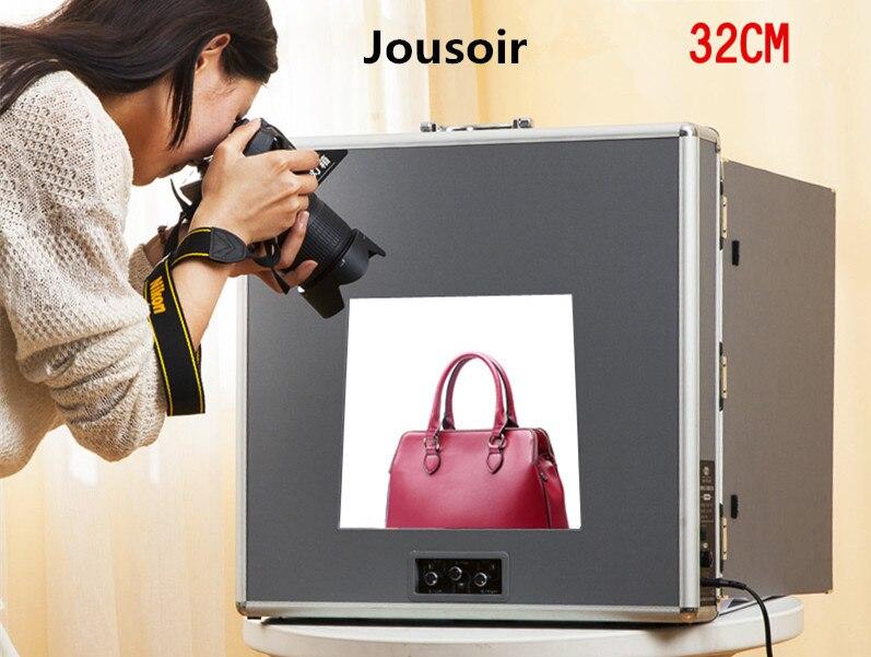 Studio Photo Portable mini Softbox tente 32 cm avec fond tente trépied lampes CD50