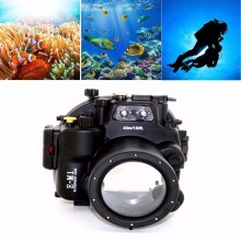 Meikon EM1 Waterproof Underwater Housing Camera Diving Case for Olympus E-M1 12-40mm lens