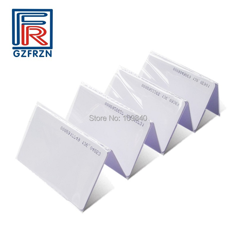 200pcs/lot 125khz RFID T5577 card for access control Hotel door Lock 200pcs track 1 2 and 3 magnetic stripe blank card for school library management access control