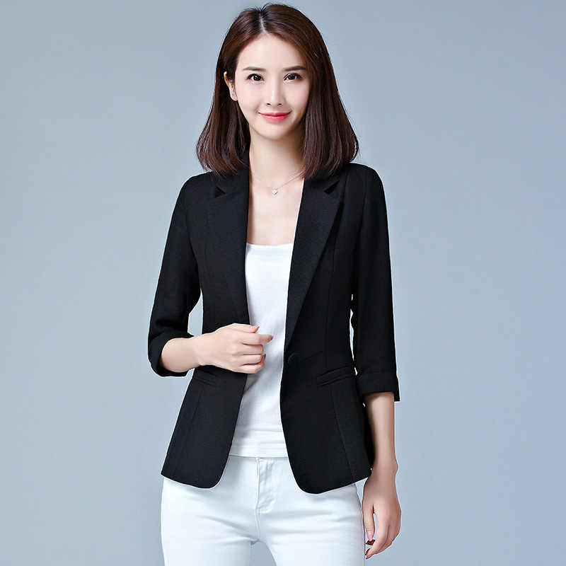 Frauen Blazer Langarm Schlank Blazer Feminino Plus Größe Solide/Plaid Mantel Frauen Jacke Weibliche Schwarz Blau Rosa Blazer femme