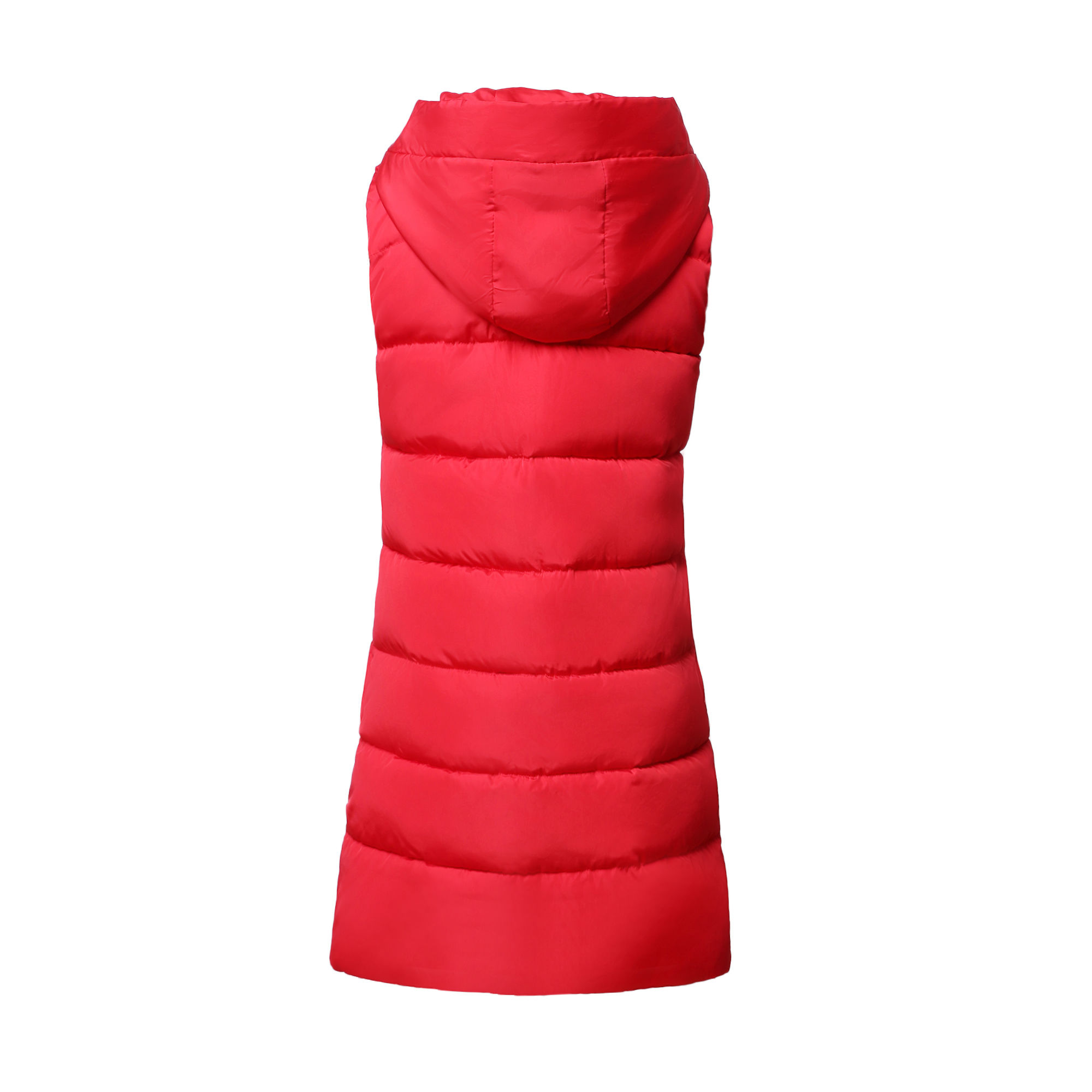 Autumn Winter Women Waistcoat Sleeveless Vest Jacket Hooded Warm Long 5