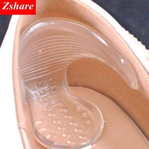 1 Pair Silicone Soft Insert Heel Liner Grips T-type Thread High Heel Comfort Pads Feet Care Accessories