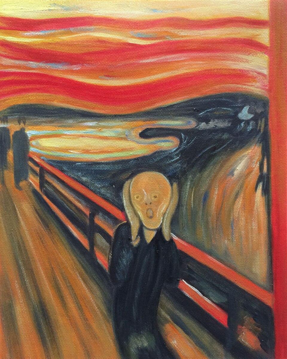 960fc4229b78e ٩( ‿ )۶Ręcznie malowane Abstrakcyjny Obraz Olejny na Płótnie-The ...