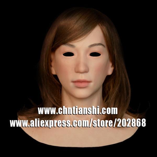 SF-N17 silicone female mask   human mask   crossdress silicone female mask