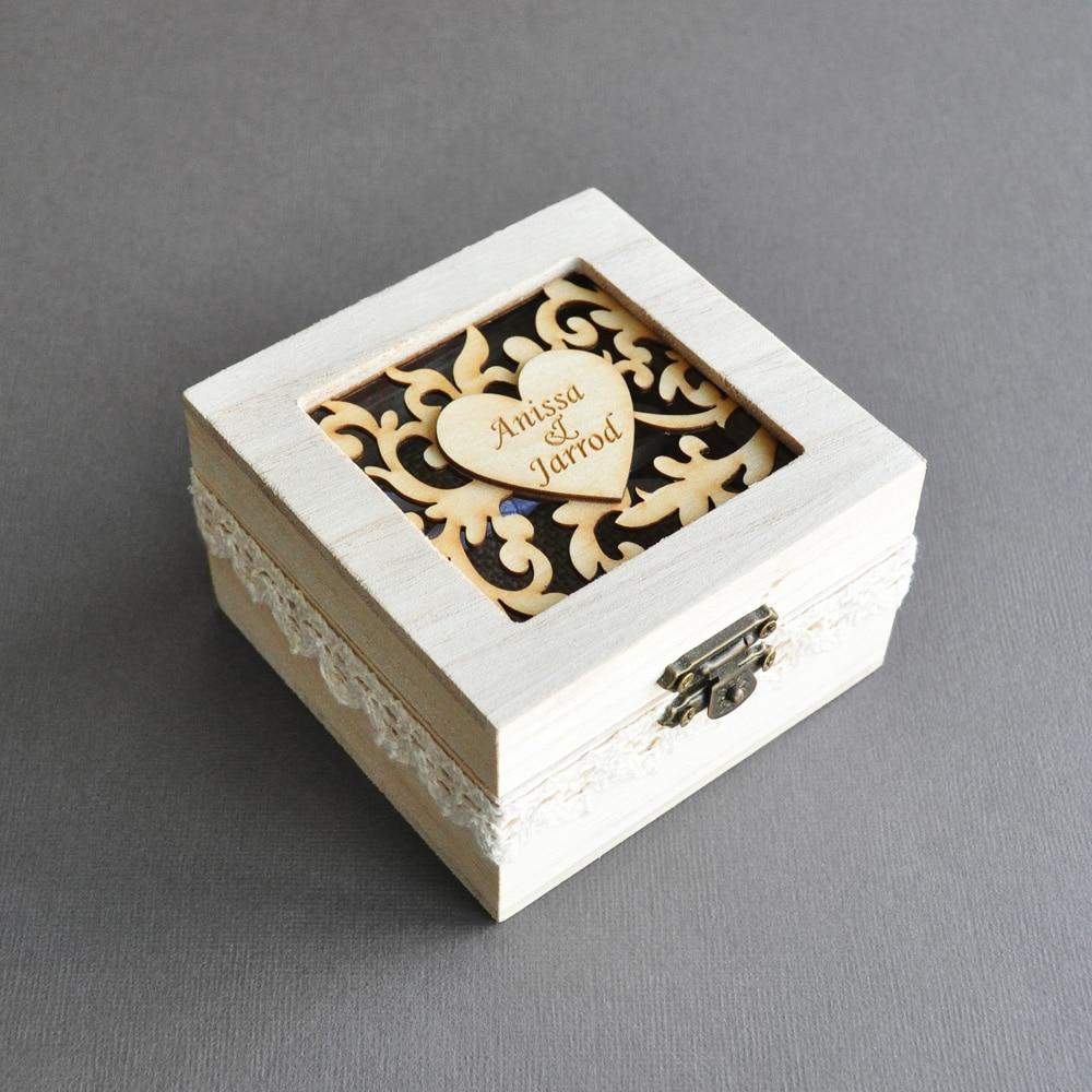 Personalized Wedding Ring Box,Rustic Wood Wedding Ring Box,Engave Names Wedding Ring Bearer Box,Ring Holder,Wedding Gift