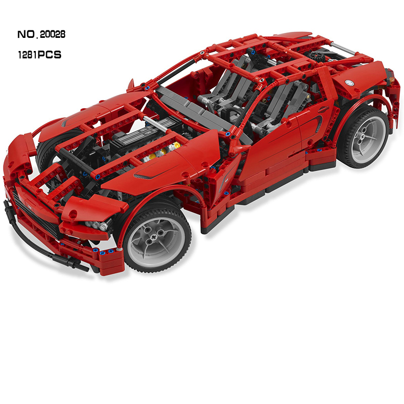 Compatible Legoe Technic 8070 model 20028 1281pcs Super Car assembly toy car DIY bricks building blocks toys for children 2 in 1 transformable assembly building blocks car for children puzzling toys