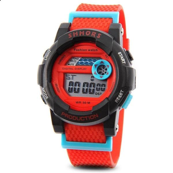 9074b012771b 2016 shhors 833 Militar reloj LED deportes reloj de pulsera con fecha Día  alarma resistencia función agua Goma en Relojes de niños de Relojes en ...