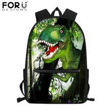 FORUDESIGNS Creative Dinosaur Print School Bags for Primary
