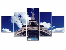 NEW 5 piece Scenic Tower Series Canvas Painting Wall Art Home Decor Poster Print unframe or framed/XC-city-40