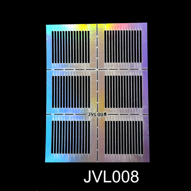 Yzwle 23 Lembar DIY Kuku Tidak Beraturan Grid Stensil Dapat Digunakan Kembali Nail Art Vinyls Berongga Stiker Stamping Template Kuku Alat