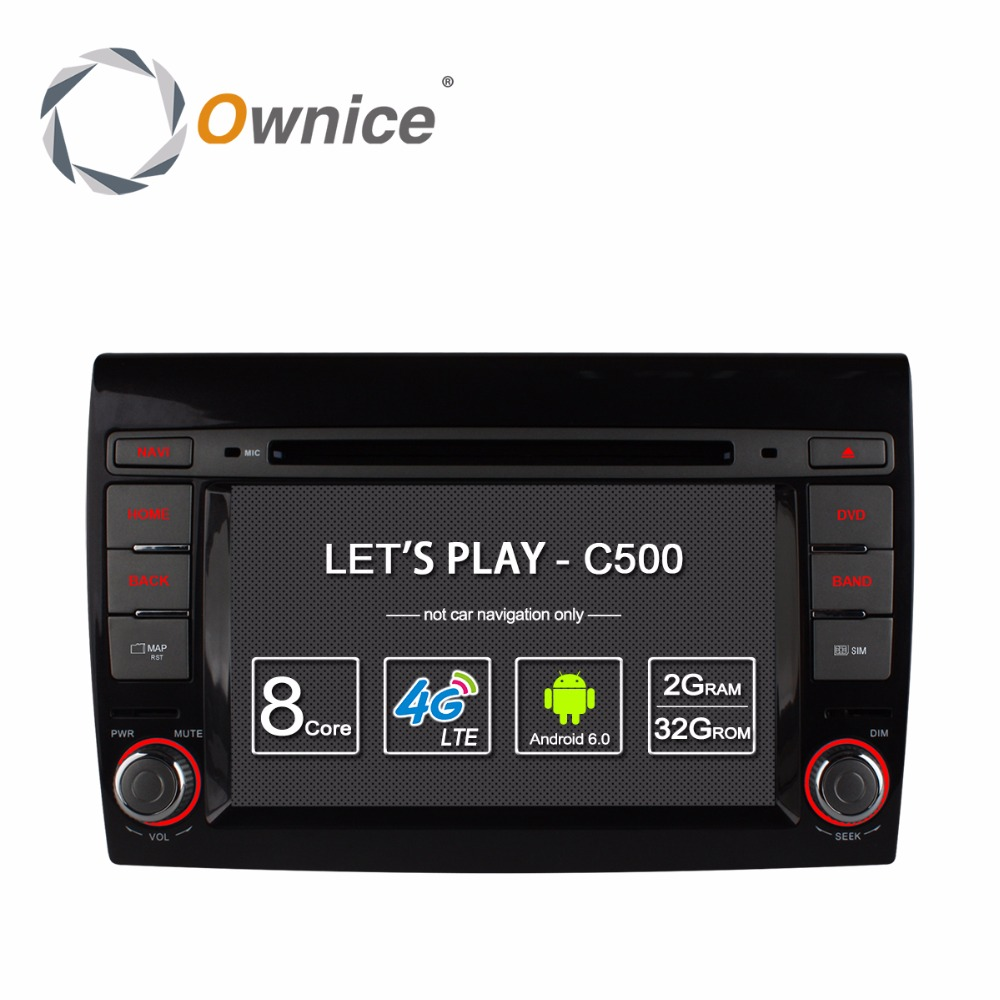 1024 600 Octa Core 2GB RAM Android 6 0 Car DVD For Fiat Bravo 2007 2008