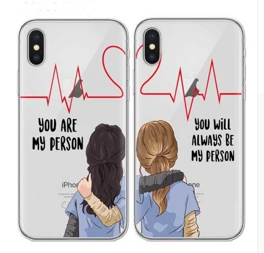 Grays Anatomia você é a minha pessoa Telefone Caso Capa Para o iphone X XS XR MAX 5 6 7 8 Plus S SE Coque silicone Suave TPU Caso Capa