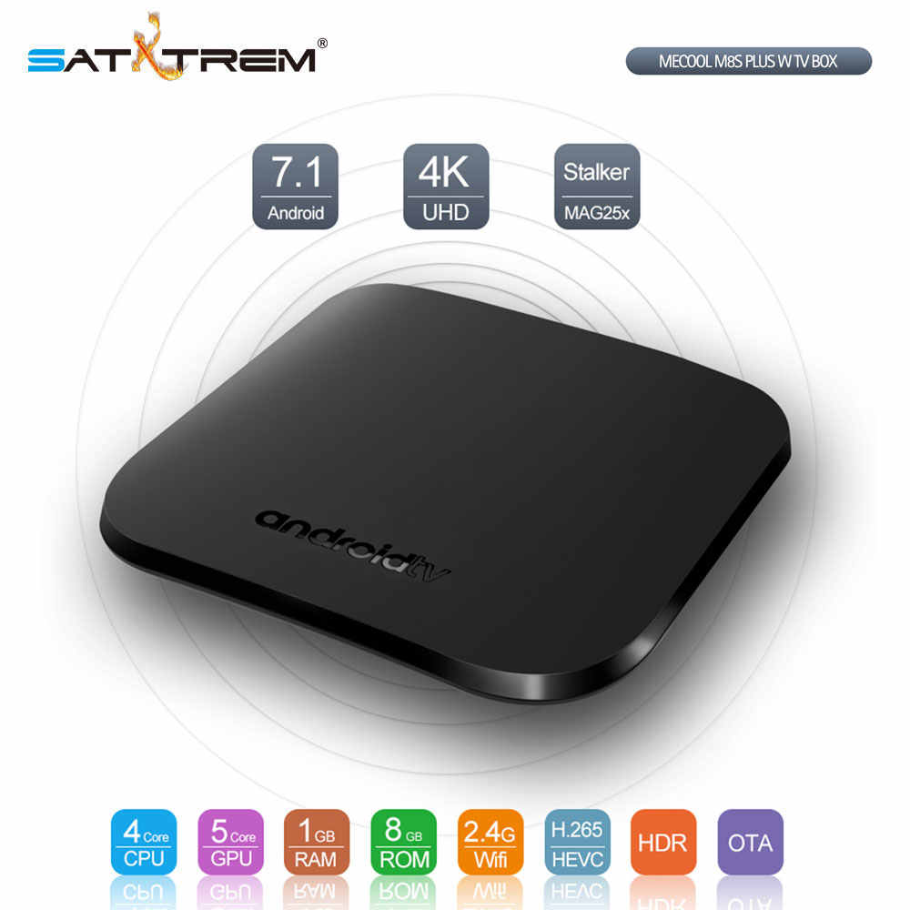 Mecool M8S Plus W Android TV Box Amlogic S905W Smart IPTV Media Player 4K TV Set Top Box Checper dari H96 Max Plus Km9 Pro Km3
