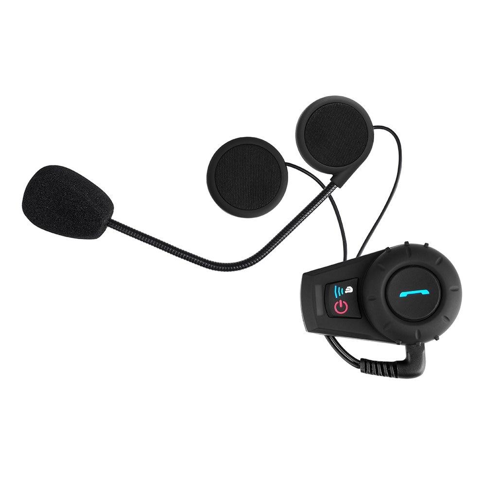 BT Motorcycle Helmet Headset And Interphone 500M Range Intercom Function Kit For Motorcyclists And Skiers UK Plug