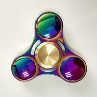 Rainbow EDC Hand Spinner Tri Fidget Focus Desk Toys Stocking Stuffer Kids Adult Anti Stress Colorful