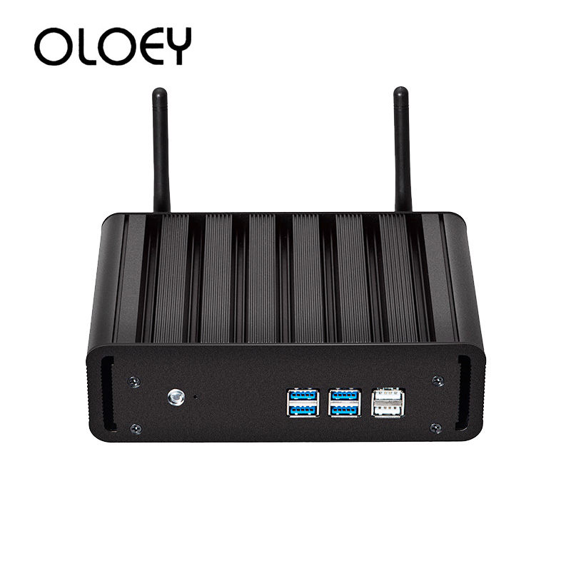 OLOEY Mini PC Intel Core I7-5500U Windows 10 8GB DDR3L 240GB SSD 300Mbps WiFi Gigabit Ethernet HDMI VGA 6*USB HTPC