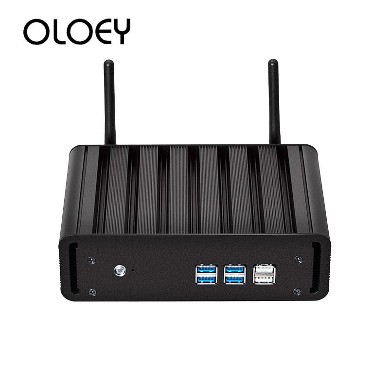 OLOEY Mini PC Intel Core I7-5500U Windows 10 8GB DDR3L 240GB SSD 300Mbps WiFi Gigabit Ethernet HDMI VGA 6*USB HTPC