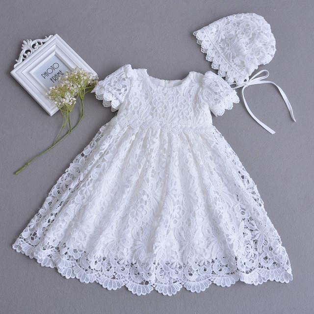 marcas reconocidas fotos oficiales comprar genuino 1 año cumpleaños bebé niña vestidos para bautismo Infante princesa tul  vestido de boda bautizo vestido recién nacido Bebé Ropa
