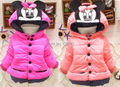 Hot sale  Baby Kids Girls Winter warm outwear with a hood cotton-padded jackets coat clothes