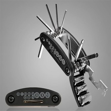 Bicycle Repair Tool Kit 16 in 1 Multifunctional Bike Mechanic Fix Portable Tools Valve Core Remover Wrench and Tire Pat