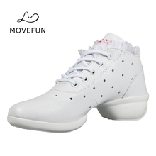 movefun Female Dance Shoes Women Jazz Sneakers Summer Breath Modern Square Dance Dancing Shoes For Ladies Girls Four Seasons -86
