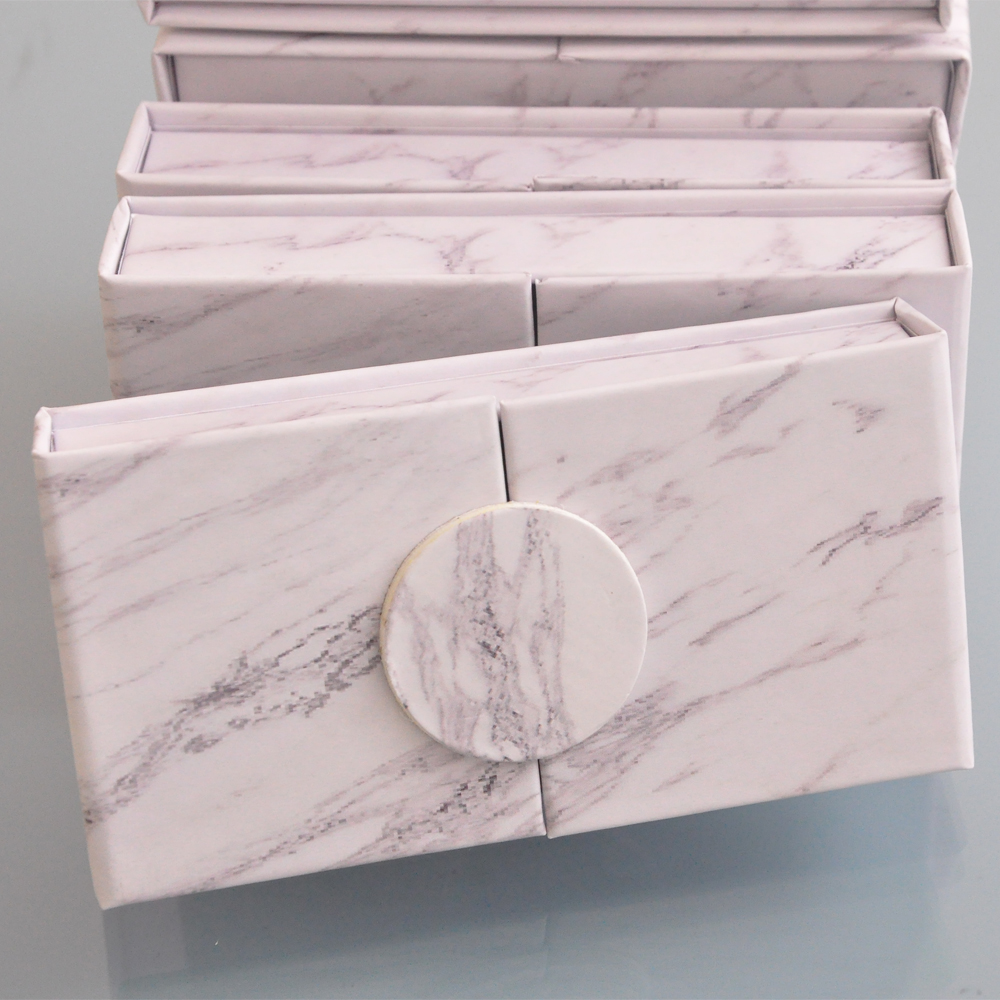 wholesale false eyelash packaging box lash boxes packaging custom your logo faux mink eyelashes strip lashes case empty  vendors-in False Eyelashes from Beauty & Health