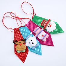 1pc Creative Sequin Tie Bow Christmas Tree Decoration Small Gift for Children New Year Kids Baby Shower