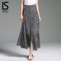 100% natural Silk Short Skirt Half length Skirt Summer skirt New Beach Point Silk Fishtail Skirt