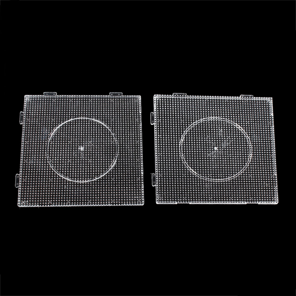 Plastic DIY Pegboards For Hama Beads Great Kids Fun Craft Square Clear (Fits 2.6mm Fuse Beads) 14cm x 14cm, 1 Piece