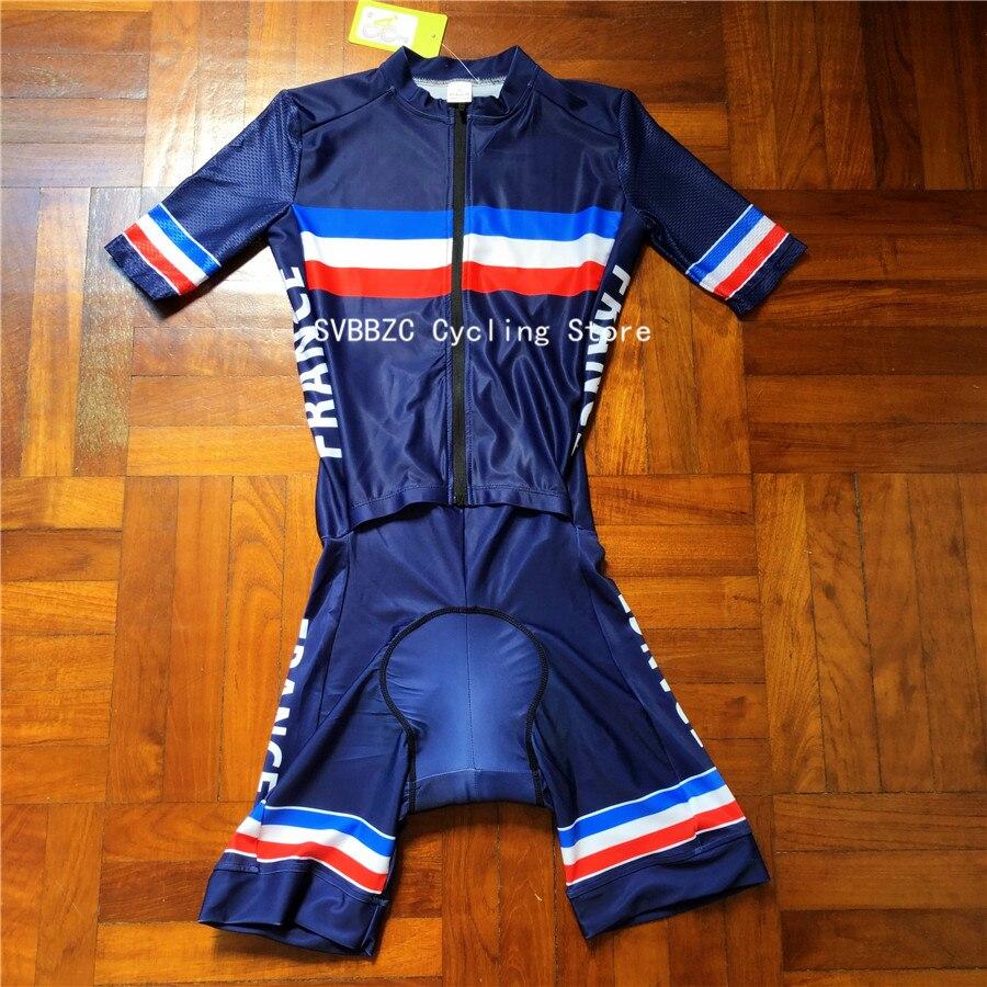 Nouvelle FRANCE cyclisme Skinsuit hommes Triathlon Sportwear route cyclisme vêtements Ropa De Ciclismo vtt cyclisme ensemble
