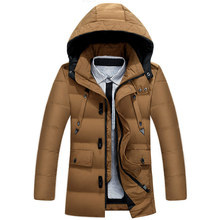 Winter Men Hooded Jackets Cotton-padded Men Coat Thickening Male Winter Coat Quilted Outwear Plus Size M-3xl