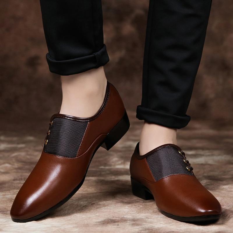 Mariage 2018 Plat 38 Pour 48 Oxford Formelle Classique Robe Black Hommes De Plus Chaussures D'affaires brown La Taille wSrEqSXF