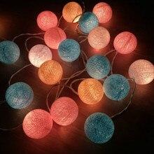 JSEX String Lights LED Fairy Cotton Ball Light Garland Indoor Outdoor Home Decoration Holiday Lighting Night G
