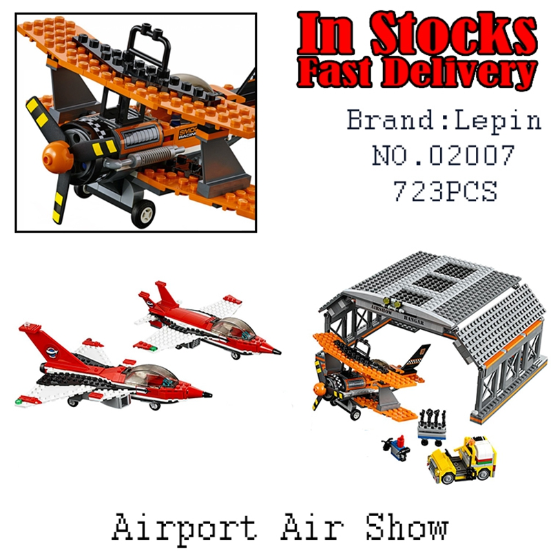 Lepin 02007 723pcs City Series Airport Flight Performance Building Blocks Bricks toys for children gifts Compatible 60103 ynynoo lepin 02043 stucke city series airport terminal modell bausteine set ziegel spielzeug fur kinder geschenk junge spielzeug