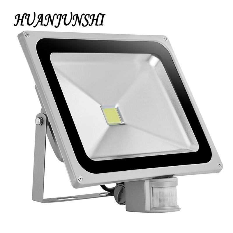 2pcs 50W LED Motion Sensor Flood Light IP65 AC 85-265V 4500LM Proyector Refletor Led Floodlight Projecteur Led Outdoor Lighting