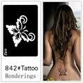Desechables tatuaje plantilla, desmontable, la creación artística, de moda, de la piel disponibles, tatuajes, Insectos, mariposas, 842